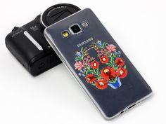 Łowickie kwiaty na etui do Samsung Galaxy A3:)