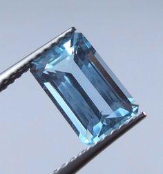 1.9 Carat Eye Clean Natural Blue Aquamarine 9.5x6 mm Octagon Cut Loose Gemstone #AquamarineTraders