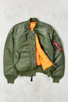 Alpha Industries Classic-Fit MA-1 Bomber Jacket - Urban Outfitters