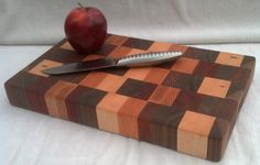 really awesome end grain cutting board, handmade by a friend of mine through his shop Woodchipperz http://www.etsy.com/listing/161587739/end-grain-cutting-board