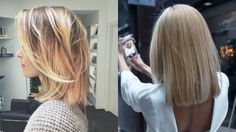 straight blonde lob styles