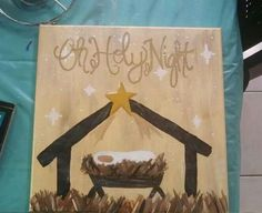 christmas paintings 18 Easy Christmas Canvas Painting Ideas for Kids - mybabydoo Christmas Nativity, Christmas Art, Christmas Projects, Christmas Signs, Christmas Crafts, Christmas Decorations, Xmas, Christmas Ideas, Nativity Crafts