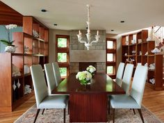 Use Bookshelves to Define a Room - Make Space With Clever Room Dividers  on HGTV