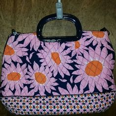 """I just added this to my closet on Poshmark: Vera Bradley """"Loves Me"""" Purse Handbag. Price: $20 Size: 17.5 inches across"""