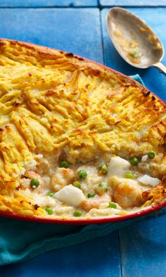 Ditch the calories. This lighter version of fish pie uses affordable, convenient frozen fish pie mix and plenty of veggies, too. Brunch Recipes, Healthy Dinner Recipes, Yummy Recipes, Recipies, Frozen Seafood Mix Recipes, Seafood Recipes, Fish Dishes, Seafood Dishes, Slimming World Fish Recipes