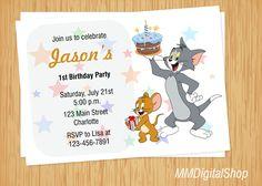 Tom y Jerry invitación invitación de Tom y Jerry por MMDigitalShop