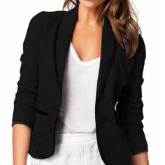 3/4th Sleeve Blazer Never worn, just like the tan one but black! Jackets & Coats Blazers