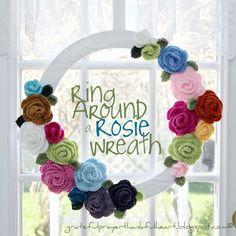 Avec une prière Grateful et un cœur reconnaissant: Ring Around Rosie une couronne de fleurs