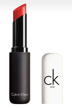 CK One, Shine Lipstick in 600 Alarm....AKA...MY New Daily Lip Jam!! I LOVE this color and product!