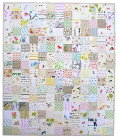 Want to make one of these for friends kids. with things to search for on the back. Red Pepper Quilts: A Modern I Spy ~ Low Volume ~ Quilt Quilt Baby, I Spy Quilt, Baby Quilt Patterns, Owl Patterns, Quilting Patterns, Charm Square Quilt, Charm Quilt, Quilting Projects, Sewing Projects