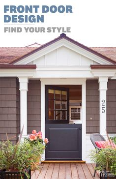 Give your front door a makeover! Take our fun quiz to get customized tips to fit your style. http://www.bhg.com/home-improvement/door/exterior/front-door-design/?socsrc=bhgpin022214frontdoorapp