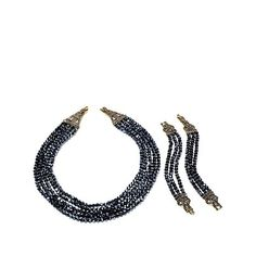 "Heidi Daus ""Heidi's Master Clasp"" Multistrand Beaded Necklace and Bracelet Set at HSN.com"