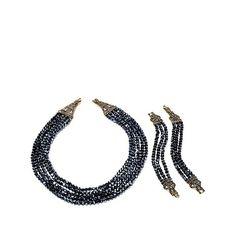 "Heidi Daus ""Heidi's Master Clasp"" Multistrand Beaded Necklace and Bracelet Set at HSN.com"