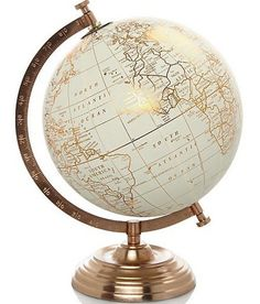 Beau Vintage Retro Style Copper World Globe Ornament Home Decor Gift