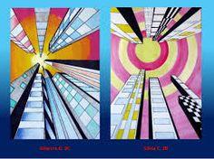 Risultati immagini per prospettiva grattacieli disegno