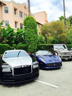 Exotic cars at The Dorchester - Beverly Hills Hotel.