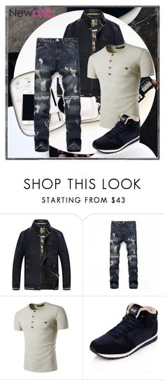 """NEWCHIC 58"" by jasmine-monro ❤ liked on Polyvore featuring men's fashion and menswear"