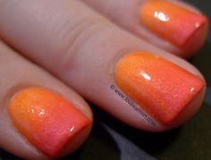 Neon gradient with China Glaze Summer Neons ~ Love. Varnish, chocolate and more... - image Ilovevarnish