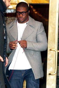 Reggie is WEARING that grey coat...NICE