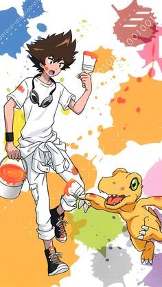 Tai y agumon Digimon 02, Digimon Tamers, Digimon Adventure Tri., Anime Manga, Anime Art, Digimon Wallpaper, Gatomon, Otaku, Digimon Digital Monsters