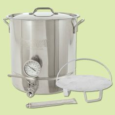Invite the beer lover in your life to create his or her own custom microbrews at home with this 6-piece stainless-steel home brew kit. | Bayou Classic Home Brew Kettle Kit from @overstock