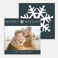 Holiday Card, Merry & Bright, Personalized Christmas Card, Photo Card, Custom Holiday Card Printing, Digital File