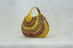 small butt basket - all hand dyed and hand woven by Debbie Dietrich  SOLD