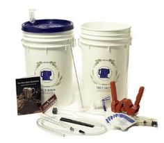 Basic Homebrew Kit for Home Made Beer by Learn To Brew LLC. $57.95. Easy to Use. For anyone who wants to start homebrewing, then this kit is an inexpensive way to get started with a great new hobby. All the equipment is user friendly and doesn't take up much space at all.   The Basic kit uses a 6.5-Gallon food grade plastic bucket (while most shops only offer a six gallon bucket, you will be happy you have the extra space) with a sealable lid. The bucket is easy t...