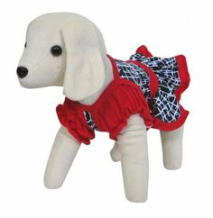 UP Collection Red & Black Small Dog Dress