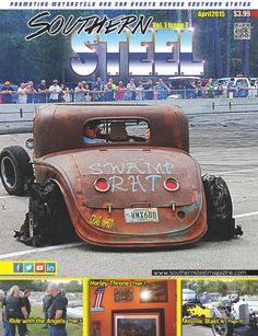 Premier of Southern Steel Motorcycle & Car Event Promotion Magazine Cover. Swamp Rat from Daddy Crab's Atomic Blast.