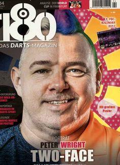 """Porträt Peter Wright: Two-Face Gefunden in der Ausgabe 4/2016 von """"180 Das Darts-Magazin"""""""