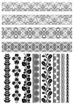 Floral Borders Vectors Free Vector Cdr Download 3axis Co Floral Border Page Borders Design Floral