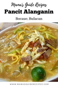 Pancit Alanganin is very famous in Bocaue Bulacan, it is a sauteed pancit with a kick of milk. It is our favorite pancit bihon with a slight touch of Filipino Dishes, Filipino Recipes, Asian Recipes, Filipino Food, Ethnic Recipes, Pinoy Recipe, Seafood Recipes, Beef Recipes, Soup Recipes