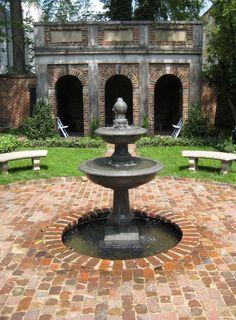 Enchanted garden at the Edgar Allan Poe Museum in Richmond, Virginia.