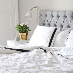 "Jersey bedding i Band Smoke från Beach House Company hemma hos ""starwoman"" WEBSHOP: http://beachhousecompany.com/"