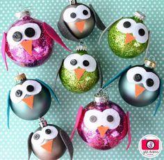 Christmas Owl Bulbs