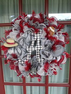 Alabama Crimson Tide Fan Deco Mesh Door Wreath by CrazyboutDeco, $79.00