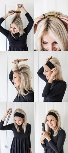 Brigitte Bardot Headband Hair-Yes Please! (click through for tutorial)
