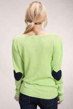 Elbow Love Sweater / sweter z sercami jako podłokietniki