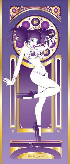 Cancer Zodiac Sign ♋. CANCER ZODIAC ART BY ArtistHazzard.