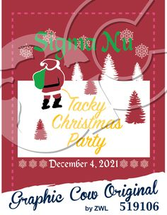 Tacky Christmas party Santa Claus trees #christmas #grafcow
