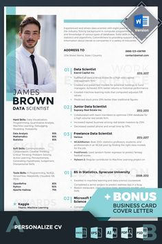 James Brown Data Scientist Resume Template - Resume Template Ideas of Resume Template - James Brown Data Scientist Resume Template Student Resume Template, Modern Resume Template, Resume Template Free, Card Templates, Free Resume, Templates Free, Cv Pdf, Resume Template Australia, Bio Data For Marriage