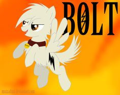 Anybody who loved Disney's movie Bolt and loves to adopt ponies will love Bolt as a pony. Currently adoptable