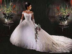 Resultado de imagem para vestido de noivas rodado