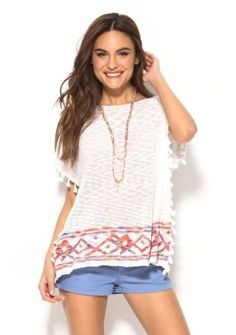 Pončo so strapčekmi #Modinosk #boho #bohoponcho Mode Boho, Boho Fashion, Boho Style, Sportswear, Linens, Shopping, Womens Fashion, Bohemian Fashion, Boho Outfits