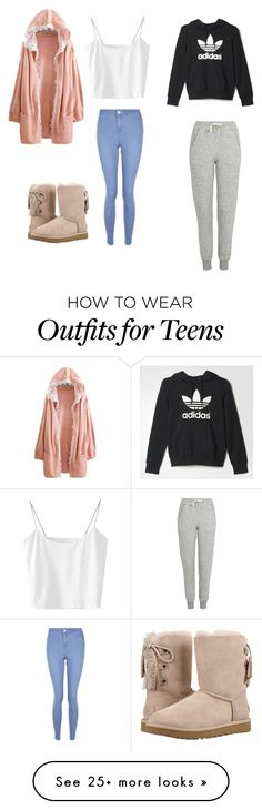 """""""Untitled #308"""" by voluntears on Polyvore featuring Topshop, New Look, UGG and adidas"""