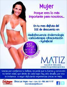 Mujer: porque siempre para ti lo mejor!!!    www.matizsaludybelleza.com  Como tú quieres que sea! Radio Frequency, Te Quiero, Get Well Soon, Health, Beauty, Women
