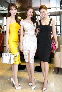 Váy hot girl, Phong cách sao, Thời trang sao việt, Street Style, Thời trang dạo phố, Hot girl, Váy dự tiệc, Party dress