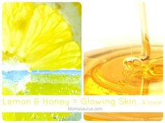 DIY Lemon & Honey Mask: Brighter, smoother, GLOWING SKIN, clears acne, reduced redness and evens out skin tone. I call this my Miracle Mask; it really works & it's so simple!!! Momasaurus.com