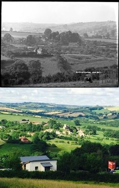 Englishcombe from Twerton Roundhill (Southdown!) 1930s and 2016